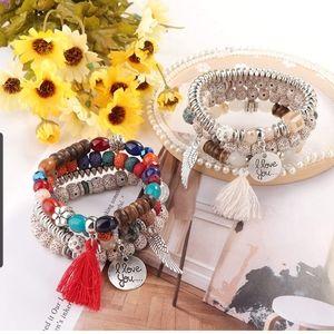 8 style sets  of women's beaded bracelets